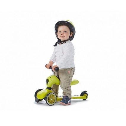 Трехколесный самокат с сиденьем Scoot&Ride HighwayKick ДЫМЧАТЫЙ ТУМАН от 1 до 5 лет (2 в 1)
